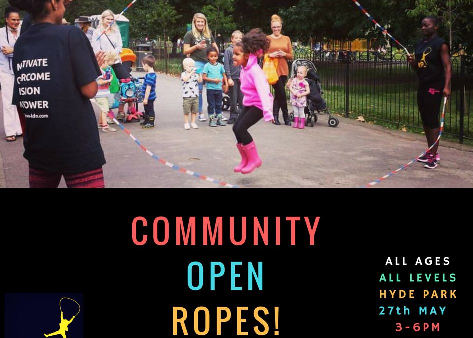 Community 'Open' Ropes in Hyde Park 27/5/17